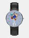 Mens Cartoon Astronaut Colorful Planet Print Quartz Watch - Blue