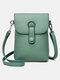 Casual Clear Fabric 6.8 Inch Phone Bag Exquisite Hardware Waterproof Wearable Crossbody Bag - Green