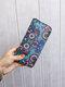 Women Ethnic Print 6.5 Inch Phone Bag Money Clip Wallet Purse - #02