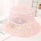 Net Yarn Fisherman Hat Small Fresh Breathable Thin Small Daisy Flower Outdoor Sunscreen Hat - Pink