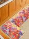 Pintura de acuarela Patrón Soft Puerta antideslizante Manta Alfombra Alfombra Alfombra de piso de cocina Interior al aire libre Decoración - #02