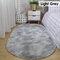 Langes buntes Tie-Dye-Farbverlaufsteppich Wohnzimmer Schlafzimmer Nachttisch Decke Couchtisch Kissen Voller Teppich Bodenmatte - Hellgrau