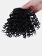 3 Colors Bangs Wig Piece African Small Curly Short Hair Extensions - Black