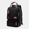Women Waterproof School Bag Solid Large Capacity Backpack - Black