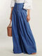 High Waist Loose Casual Denim Jeans With Button For Women - Blue