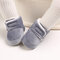 Baby Toddler Shoes Cute Comfy Plush Warm Soft Sole Hook Loop Snow Boots - Gray