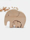 Cadeaux commémoratifs fête des mères bébé anniversaire lettrage en bois éléphants famille artisanat ornements Homde bureau Docor - #01