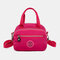Women Nylon Waterproof Casual Handbag Crossbody Bag - Red