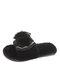 Women Opened Toe Short Plush Rhinestone Bowknot Sling Back Slippers - Black