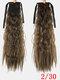 10 цветов конский хвост Волосы удлинительный галстук Веревка кукурузная пермская коса длинный вьющийся хвост - #03