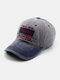 Men Made-old Denim Letter Embroidery Patchwork Casual Sport Sunshade Baseball Hat - Gray