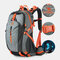 Men Polyester Free Rain Cover 40L Waterproof Outdoor Hiking Travel Lightweight Backpack - Grey