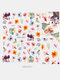 3D Nail Art Stickers Waterproof Small Fresh Colorful Simulation Dried Flowers Butterfly Nail Decals - #11