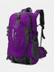 Large Capacity 40L Multi-pockets Anti-scratch Load-bearing Mountaineering Multifunctional Buckle Outdoors Backpack - Purple