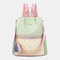 Women Patchwork Tassel Embroidery Thread Love Multi-carry Backpack - Green
