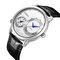CRRJU reloj para hombre dos movimientos reloj de pulsera militar cuero cuarzo negocios relojes de lujo - Plateado