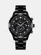 سبيكة غير القابل للصدأ أعمال فولاذية حزام كوارتز Watch تقويم ثنائي العين Watch - #06
