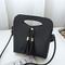 Women Mini PU Crossbody Bags Tassel Phone Bags - Black