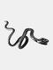 Alloy Vintage Snake-shape Animal Ear Clip Earrings - Black