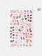 3D Nail Art Stickers Adhesive Colorful Love Heart Red Lips Rose Valentine's Day Stickers - #08