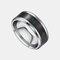 トレンディなスマート温度リングチタン鋼防水敏感温度ディスプレイカップルリング - 銀