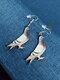 Acrílico Colibrí Paloma Eagle Búho Loro Pendientes Forma de pájaro Pendientes - #03