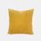 Nordic Solid Color Cord breit und schmal gestreift Flanell Kissen Schlafzimmer Sofa Autokissenbezug - Gelb