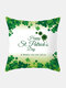 Happy St. Patrick's Day Cushion Cover Clover Leaves Printed Pillowcase For Home Sofa Decoration Festival Ornament Irish Party - #19
