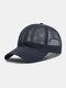 Unisex Mesh Breathable Outdoor Sonnenschutz Solid Trucker Hut Baseball Hut - Marine