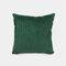 Nordic Solid Color Cord breit und schmal gestreift Flanell Kissen Schlafzimmer Sofa Autokissenbezug - Grün