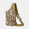 Men Oxford Camouflage Multi-carry Tactical Fishing Travel Outdoor Chest Bag Sling Bag - #01