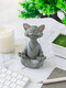1 PC Resin Quiet Contemplation Buddha Cat Figurine Meditation Yoga Collectible Happy Cat Collection Cats Lover Gift Women Yoga Home Decor - #02
