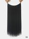 10 цветов длинные прямые Волосы удлинители химического волокна без следов ложные Волосы шт. - #01