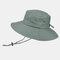 Men's Hiking Hat Big Breathable Sun Hat UV Protection Fisherman's Hat - Green