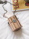 महिला Argyle पैटर्न लेजर लिपस्टिक बाल्टी बैग चेन Crossbody बैग - 01