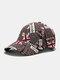 यूनिसेक्स कॉटन ब्रिटिश फ्लैग पैटर्न कैजुअल फैशन सनवीसर पीक कैप बेसबॉल टोपी - डार्क कॉफी