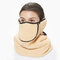 Men Women Winter Warm Cold Dustproof Breathable Warm Ears Outdoor Cycling Ski Travel Mouth Face Mask - Yellow