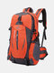 Large Capacity 40L Multi-pockets Anti-scratch Load-bearing Mountaineering Multifunctional Buckle Outdoors Backpack - Orange