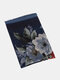 Women Cotton Linen Vintage Calico Print Dual-use Thin Casual Shawl Scarf - Navy