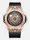 Fashion 3ATM Waterproof Men Watch Creative Dial Leather Strap Quartz Watch - #01