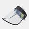COLLROWN Transparent Screen Sun Hat Empty Top Hat Big Brim Cover Face Hat - Black