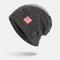 Men Wool America Flag WInter Keep Warm Beanie Skull Cap Woolen Knit Cap - Grey