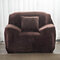 Solid Color Plush Thicken Elastic Sofa Cover Universal Sectional Slipcover 1/2/3 seater Stretch Couch Cover - Coffee