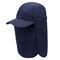 Cubierta de protección solar Visera facial al aire libre pesca Sombrero Gorra de secado rápido de verano transpirable Sombrero