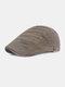 पुरुषों धारीदार पैटर्न ठोस रंग आकस्मिक फैशन Sunvisor फ्लैट टोपी आगे टोपी टोपी टोपी - हरा
