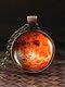 Vintage Glass Gem Women Necklace Universe Starry Sky Pendant Necklace Jewelry - #07