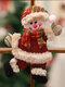 1 Pc arbre de noël accessoires noël petites poupées bonhomme de neige cerf ours tissu marionnettes petit pendentif suspendu cadeau - #02