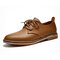 Menico Men Cow Leather Non Slip Soft Sole Casual Formal Shoes - Brown