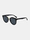 Unisex Fashion Casual Square Full Frame UV Protection Sunglasses - Black