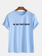 Mens Funny Casual Slogan Little Tag T-shirts - Blue